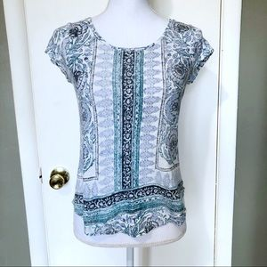 Lucky Brand Casual Printed Boho Top Size XS